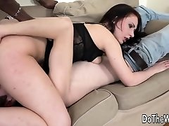 Cuckold Watches Dark-hued Guy Ass Fuck His White Wife Up Close