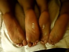 Cum on double soles(footFetish) fdsaew34