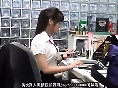 Succulent asian office lady blackmailed