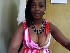 African Cougar in office on webcam