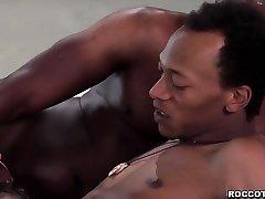 Russian honey Henessy sucking 3 black strong man sausage