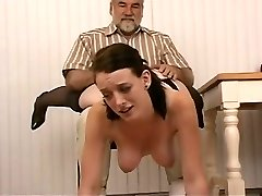 Super-cute wench with black hair and worthwhile mambos in garter thong acquires smacked hard
