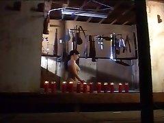 Lesbian slave smacking treatment chamber