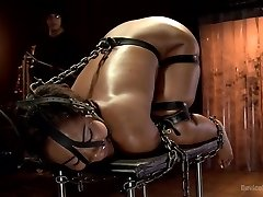 Chanell Heart in Ebony Slut Is Tantalized And Machine Torn Up - DeviceBondage