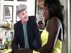 Young and old ebony anal invasion double penetration