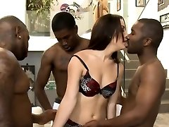 Perky tits biotch Marley Blaze Dped by enormous black cocks