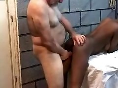 Aged MEn Plumbing A junior Black Wife