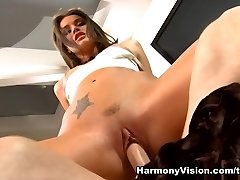 Tori Dark-hued in Tori Black´s Pooltable Shag - HarmonyVision