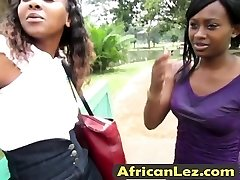 African lesbians licking cunts in appetizing douche