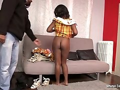 Anaelle a beautiful black gal fucked