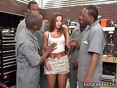Amirah Adara Fucks An Entire Team Of Black Fellows