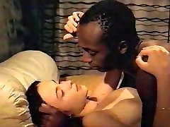 Brunette white girl with black lover - Softcore Multiracial