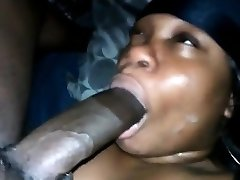 Dark woman has an unique gift for drawing on Big Black Cock