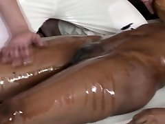 Fashionable ebony massage babe fingered