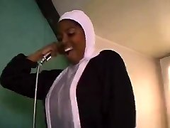 African French nun deepthroating and fucking big black cocks