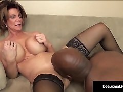Milf Boss, Deauxma, Can't Fire Her Hottest Worker's Black Cock!