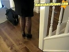 Business Boss With Big Funbags In Ebony Stockings