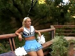 A ebony cock for a cheerleader