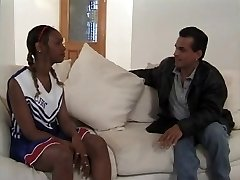 Dark-hued Anal Cheerleader