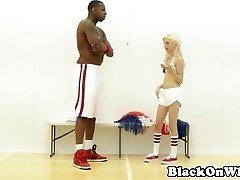 BBC loving cheerleader railed by dark-hued guy