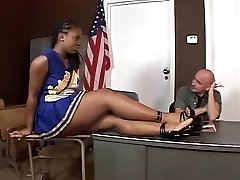 Hottest Ebony Cheerleader Banging