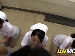 Kinky JAPANESE NURSES BLOWJOB IN A Clinic