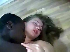 Black Chlap Dělá Blondýnka Těhotná