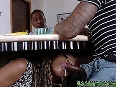Hot ebony babes drilled with monster schlongs