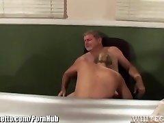 Muddy Schoolgirl makes Educator eat her Pussy