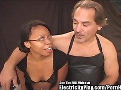 Hottie Black Chick Electrified BDSM Penetrate