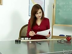 Super-naughty teacher gives her ebony schoolgirl the best blowjob of his life