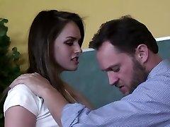 Insane teacher porks his beautiful student Tori Black