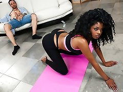 Lala Camile & Alex Legend in Naked Yoga - RoundandBrown