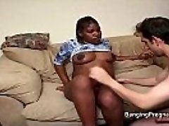 Pregnant black lady interracial fucking