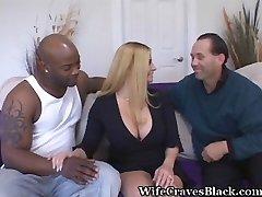 A dark-hued dick makes a superb wife happy