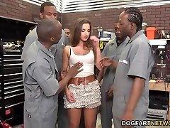 Amirah Adara Pokes An Entire Crew Of Black Men