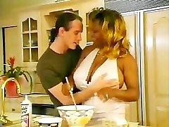 Black Plumper Gets Heated Up In The Kitchen