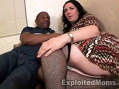 Chubby Milf Orgasms on Black Lollipop by getting  Torn Up Hard