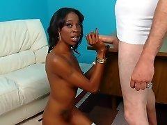 Black Bitch Pleasured With Huge Cock