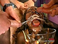 Awesome FACIAL ON Ebony GIRL STRAIGHT ON FACE