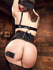 Abella Danger loves hardcore BDSM and rough anal sex, and is more than happy to give it up to Bill Bailey in the dungeons of Kink.com. Abella shows off her beautiful tits and ass in a skin tight latex hobble skirt and leather bondage. She begs for the whip, gags and nipple clamps, and eagerly chokes down Bill's hefty cock. When her pussy is clamped shut and her asshole fucked hard in tight bondage, Abella's orgasms send her into deep anal submission.