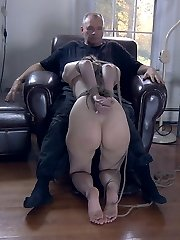 Some women are slaves, best used for service. Others are bitches, their suffering IS their value.  Kristine is the 3rd kind, a slut with holes that beg to be filled.  The look in her eye when she sucks cock cries for approval.  When PD bends her over and pounds her honeypot she just begs for more.  Getting rammed with cock is its own reward.  It is the most beautiful of submissions.
