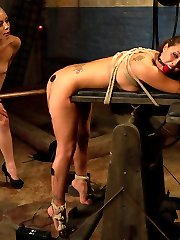 Sexy, all American, all natural, brunette captured and tortured by Miss Lorelei Lee. Beautifully...