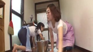 Japanese Mother In Law Rides Boy