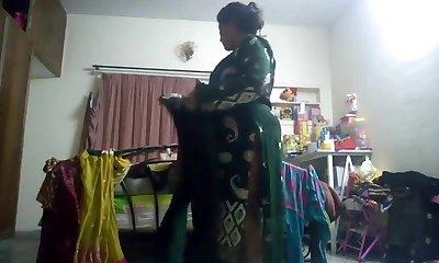 Hot aunty caught on hidden webcam