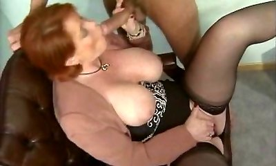 Kira Red - German Mature torn up in the Office