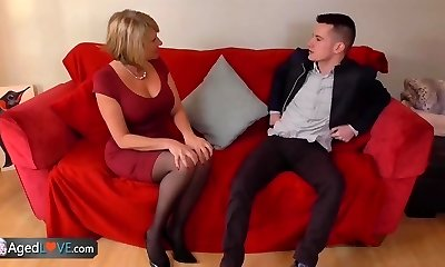 AgedLove Nice light-haired granny is fucked by horny man