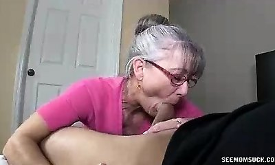 Mom Litterally Salivates To The Youthfull Hard Cock