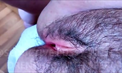 Unshaved AND Provocative PUSSY WITH SOFT LIPS DRENCHED WITH SPERM