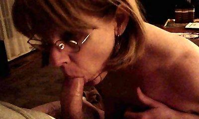Mrs. Commish bj's cock in glasses